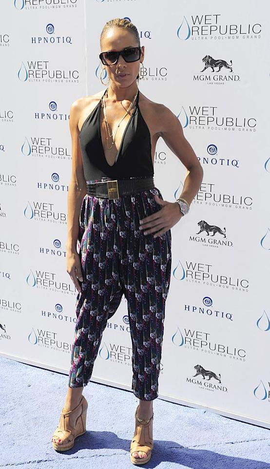 "Dania Ramirez dared to don this '90s-inspired, Fly Girls-esque ensemble while hosting what must have been a passe pool party at Wet Republic in Sin City. Steven Lawton/<a href=""http://www.filmmagic.com/"" target=""new"">FilmMagic.com</a> - September 25, 2010"