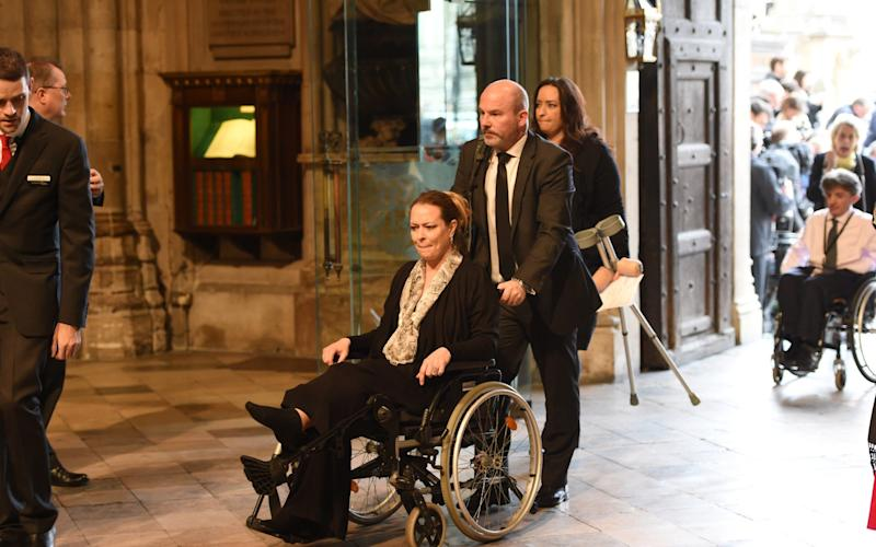 Melissa Cochran attends the Service of Hope at Westminster Abbey - Credit: Getty Images