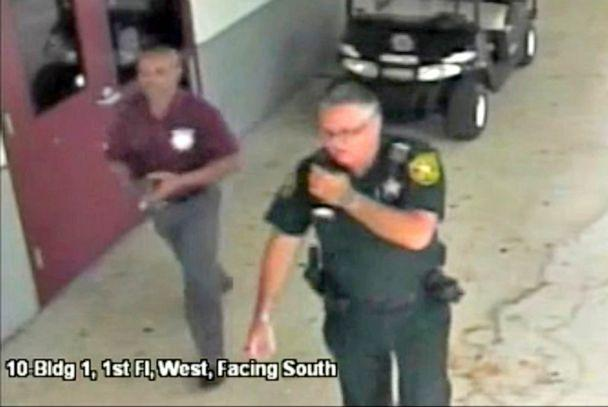 PHOTO: Then-Broward County Sheriff's Deputy Scot Peterson, who was assigned to Marjory Stoneman Douglas High School during the Feb. 14, 2018 shooting, is seen in this still image captured from the school surveillance video released, March 15, 2018. (Broward County Sheriff's Office/Reuters)
