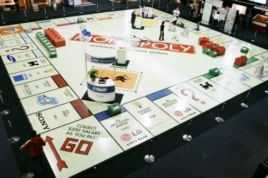giant Monopoly board
