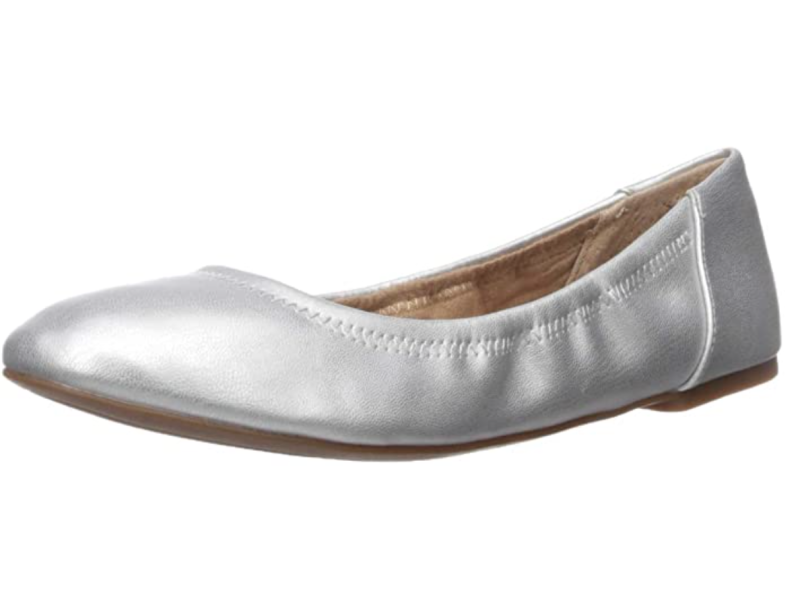 Amazon Essentials Women's Ballet Flat in Silver