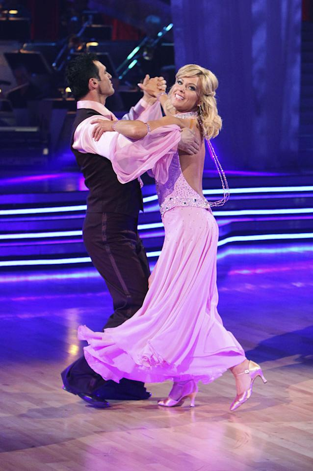"""With one judge commenting that her first """"Dancing With the Stars"""" performance was as graceful as a """"shopping cart"""" being pushed across the floor, reality mom of eight, Kate Gosselin, looks likely to be one of the first contestants to be booted from the show. Will her hair extensions save Kate from elimination? Stay tuned. Adam Larkey/<a href=""""http://www.abc.com/"""" target=""""new"""">ABC.com</a> - March 22, 2010"""