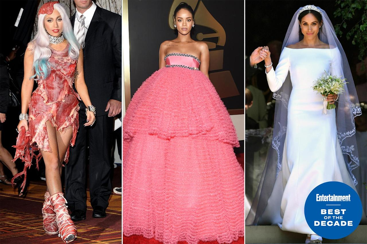 Style-watching over the past 10 years yielded garments that started memes, outfits with political purpose, and some unforgettable pieces of pure beauty. When we look back on the 2010s, these are the fashion moments we'll remember.