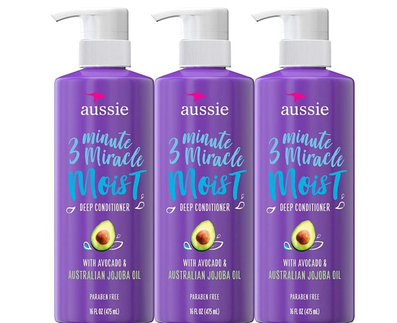 Aussie Deep Conditioner, with Avocado triple pack. (Photo: Amazon)