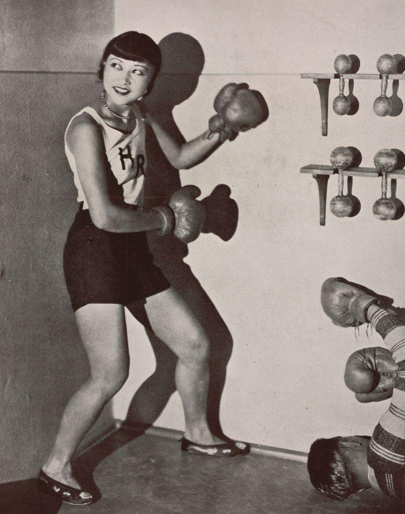 <p>Here, Anna May Wong was photographed in boxing gear for the British publication, <em>The Tatler</em>. Wong spent 1928 in Europe, as she was tired of being typecast to portray Asian stereotypes in American movies. </p>