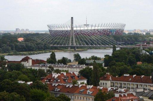 <p>File picture. The national stadium in Warsaw during the Euro 2012 football championships. The tournament catalysed a massive shake-up of Poland's ramshackle infrastructure and transformed its image on the global stage, providing potential for long-term gains.</p>