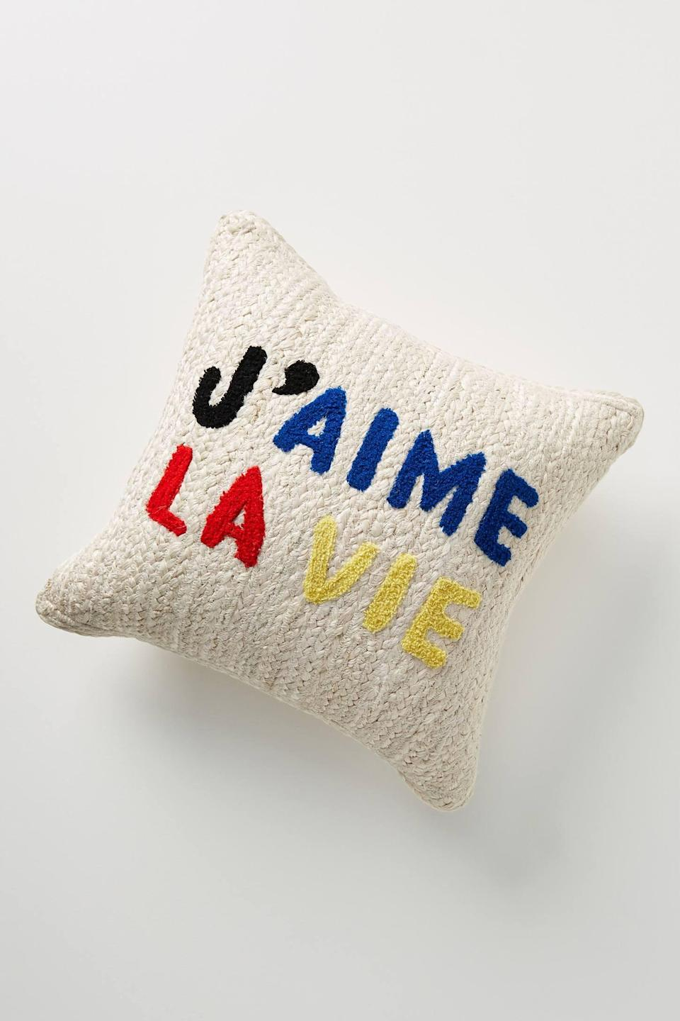 "<p>This <a href=""https://www.popsugar.com/buy/Clare-V-Anthropologie-Maisonette-Jute-Pillow-562168?p_name=Clare%20V.%20for%20Anthropologie%20Maisonette%20Jute%20Pillow&retailer=anthropologie.com&pid=562168&price=68&evar1=casa%3Aus&evar9=47360872&evar98=https%3A%2F%2Fwww.popsugar.com%2Fhome%2Fphoto-gallery%2F47360872%2Fimage%2F47361106%2FClare-V-for-Anthropologie-Maisonette-Jute-Pillow&list1=shopping%2Chome%20decor%2Cdecor%20shopping%2Chome%20shopping&prop13=api&pdata=1"" rel=""nofollow noopener"" class=""link rapid-noclick-resp"" target=""_blank"" data-ylk=""slk:Clare V. for Anthropologie Maisonette Jute Pillow"">Clare V. for Anthropologie Maisonette Jute Pillow</a> ($68) is so chic.</p>"