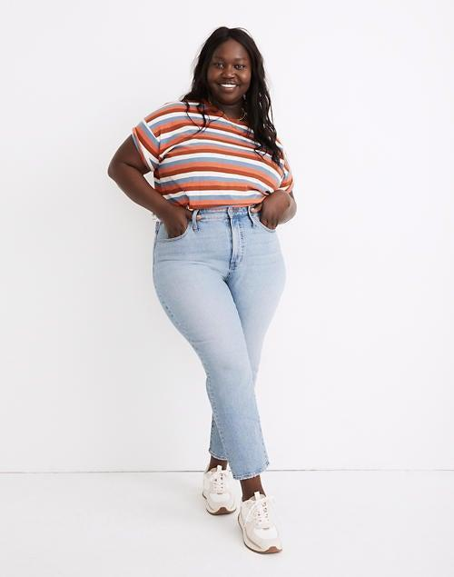 """<h2>Madewell</h2><br><strong>Best For: </strong>Wardrobe Staples<br><strong>Size Range: </strong>XXS-3X, 00-24W<br><br>Madewell is a tried and true staple for many of us in the plus community. Although we were let down by the recent change in their size chart, it's hard to beat all American denim retailers. I have many simple pieces like tees and sweaters from them that get lots of wear. I own too many Madewell pieces to count. There's a reason I can't resist coming back to them over and over again. <br><br><strong>Customer Take:</strong> """"I am now a loyal buyer of this jean style. The other styles just don't seem to live up--this particular pair has less stretch but doesn't sacrifice comfort. The pair I bought doesn't have the fading in the legs and around the butt as these photos do, it's more of a consistent color of light denim, which I prefer. So cute and comfortable! Madewell, why did I have to get hooked to your jeans?!""""<br><br><em>Shop <strong><a href=""""https://www.madewell.com/womens/clothing/more-sizes/plus"""" rel=""""nofollow noopener"""" target=""""_blank"""" data-ylk=""""slk:Madewell"""" class=""""link rapid-noclick-resp"""">Madewell</a></strong></em><br><br><strong>Madewell</strong> The Plus Perfect Vintage Jean in Fiore Wash, $, available at <a href=""""https://go.skimresources.com/?id=30283X879131&url=https%3A%2F%2Fwww.madewell.com%2Fthe-plus-perfect-vintage-jean-in-fiore-wash-MC597.html"""" rel=""""nofollow noopener"""" target=""""_blank"""" data-ylk=""""slk:Madewell"""" class=""""link rapid-noclick-resp"""">Madewell</a>"""