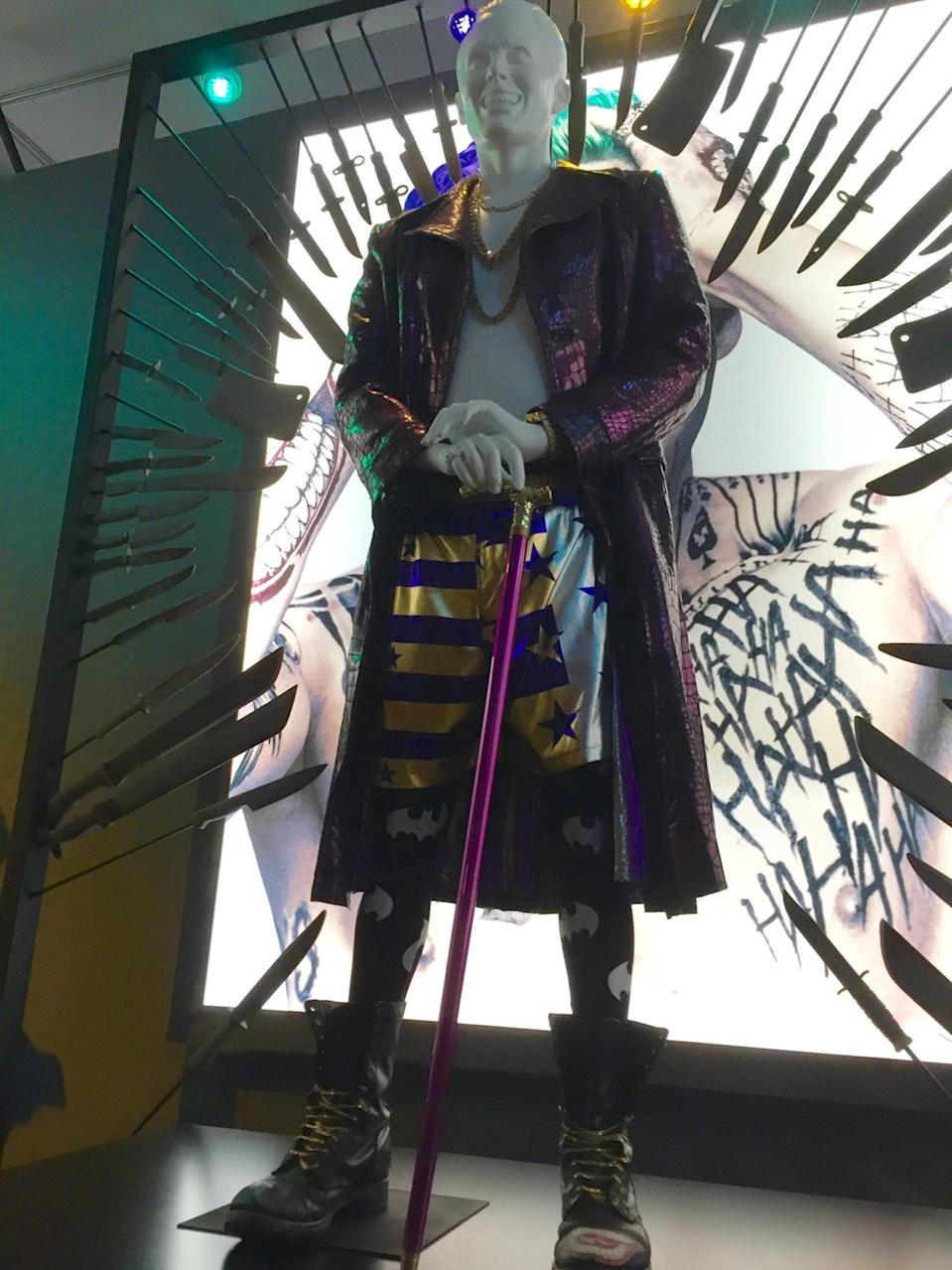 <p>Here is the outfit worn by Jared Leto's pimped-out Clown Prince of Crime.</p>
