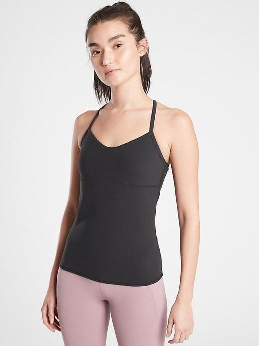 <p>This form-fitting <span>Athleta Vinyasa Support Top</span> ($59) has a built-in shelf-bra for light support even if your day doesn't include any actual Vinyasa practice.</p>