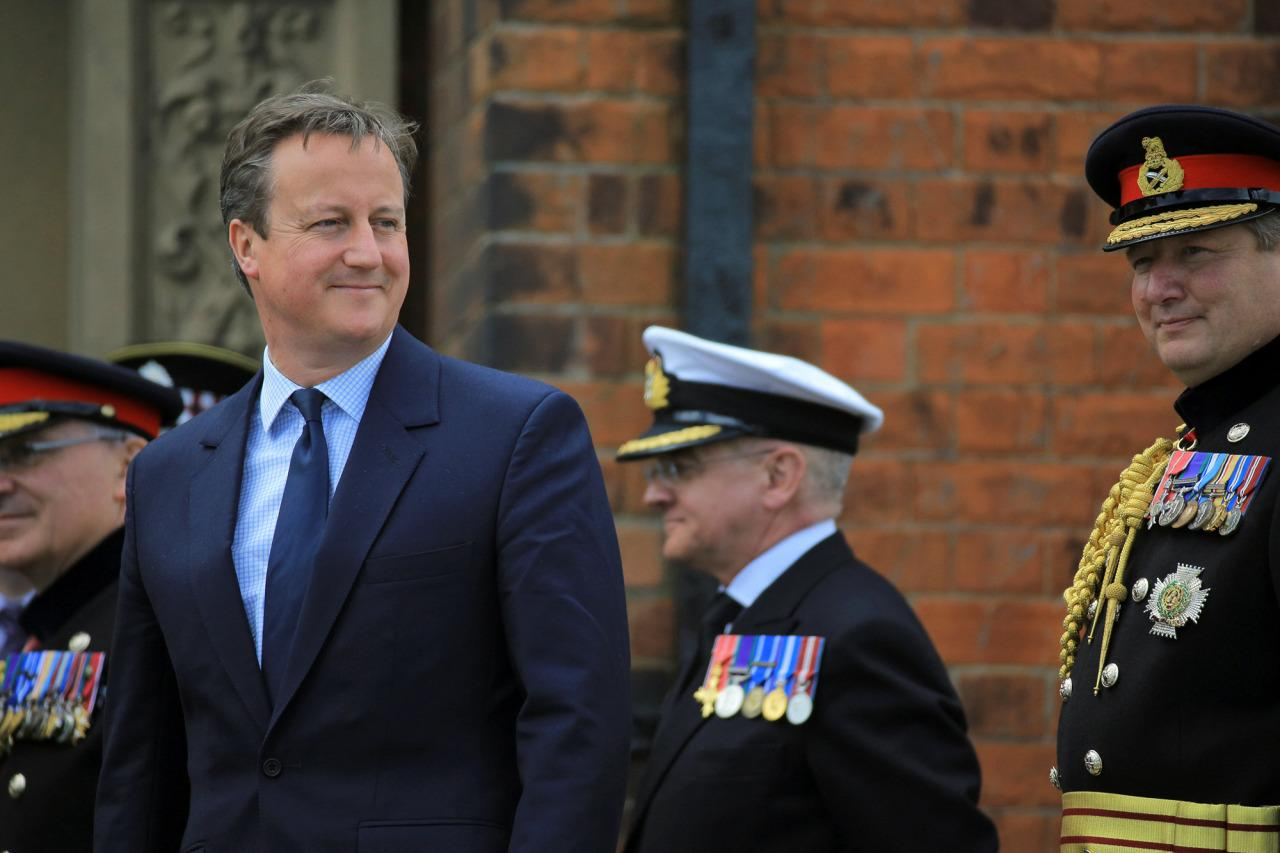 <p>Britain's Prime Minister David Cameron attends an Armed Forces Day National Event (AFDNE) at Cleethorpes in Britain June 25, 2016. (Photo: Owen Cooban/REUTERS) </p>