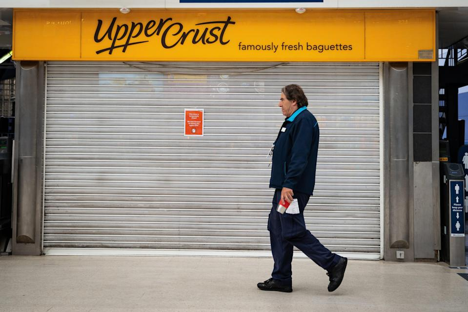 A shuttered Upper Crust outlet (PA Wire)