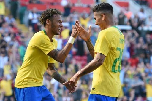 Firmino added a second for Brazil in injury time on his Liverpool home ground