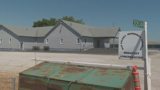 Chatham-Kent Police laid charges on the Old Colony Mennonite Church for violating provincial public health measures.  (Jacob Barker/CBC  - image credit)
