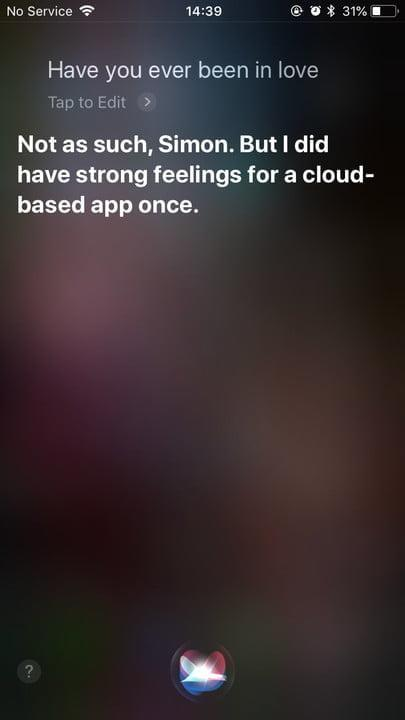 funny questions to ask siri in love 2