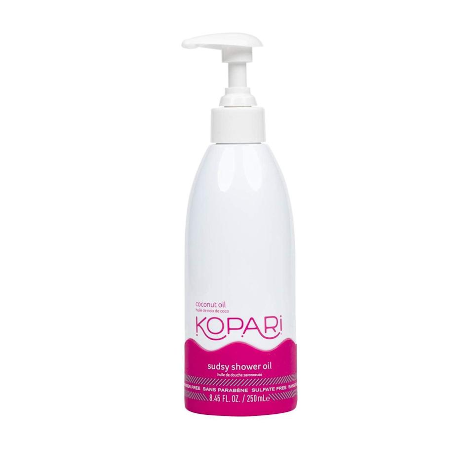 <p>The <span>Kopari Sudsy Shower Oil</span> ($28) is a two-in-one, sulfate-free formula that cleanses the skin and uses an oil-based formula to lock in moisture.</p>
