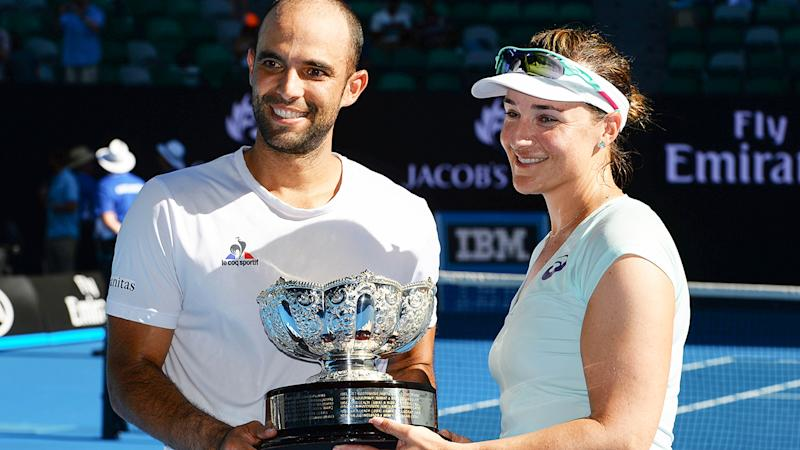 Abigail Spears, pictured here with Juan Sebastian Cabal after winning the 2017 Australian Open mixed doubles crown.