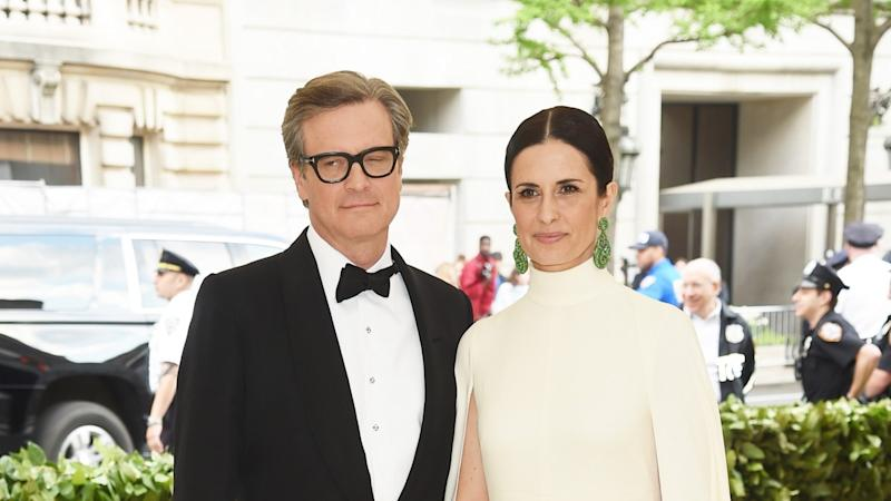 Colin Firth and wife Livia are showing a united front.
