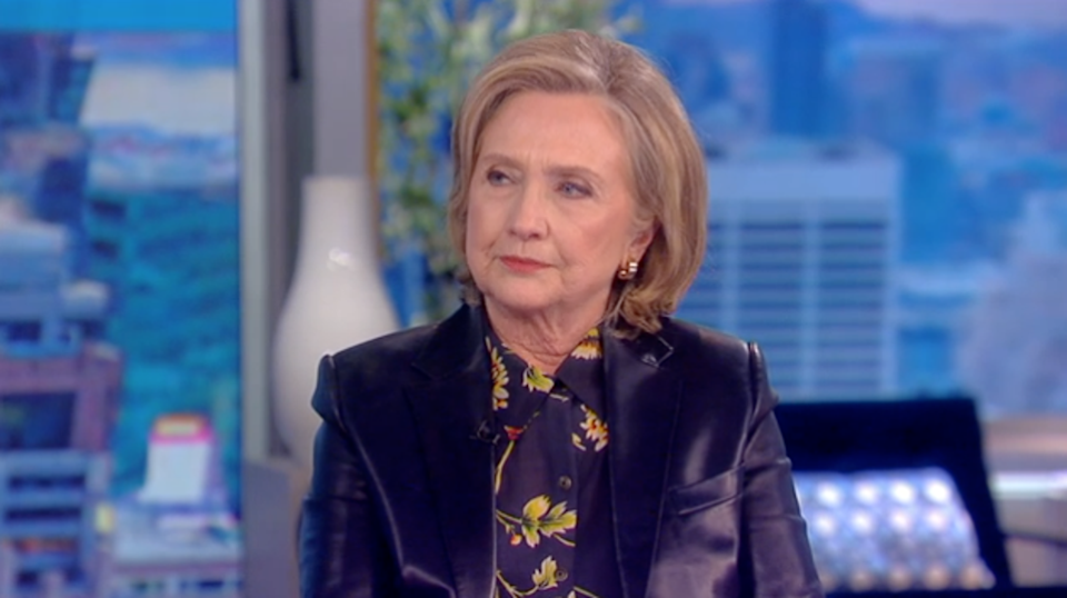 Hillary Clinton during an appearance on the 'The View' on 11 October 2021 (ABC)