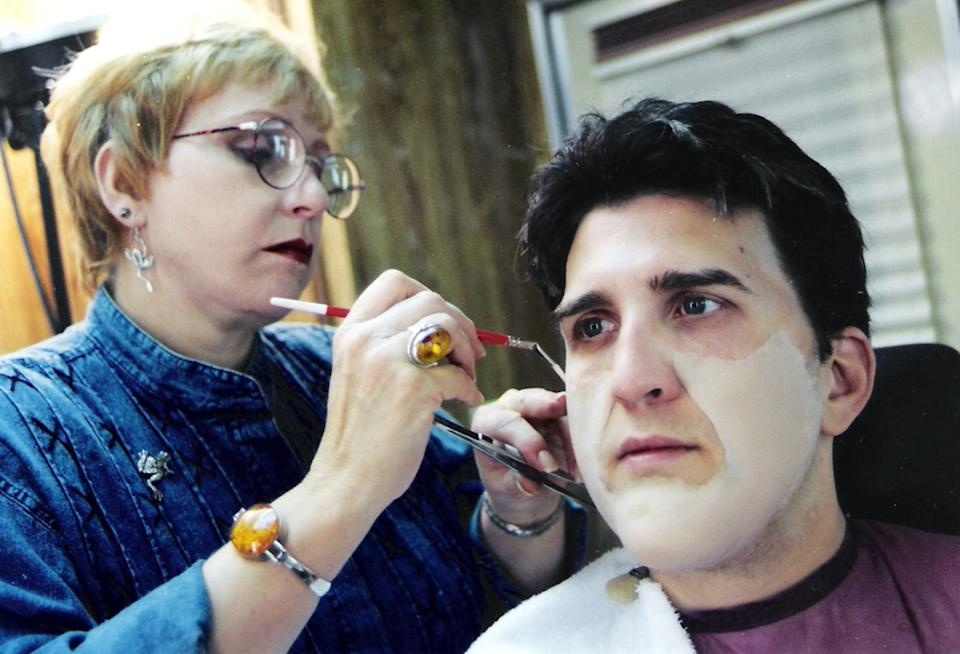 Roebuck's transformation in Jay Leno required five hours in the makeup chair (Photo: Courtesy Daniel Roebuck)