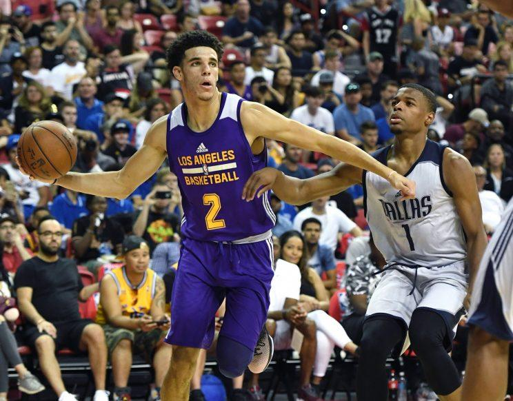 6ccdadab Lonzo Ball and Dennis Smith Jr. might have been the two most impressive  players at the Las Vegas summer league. (Getty)