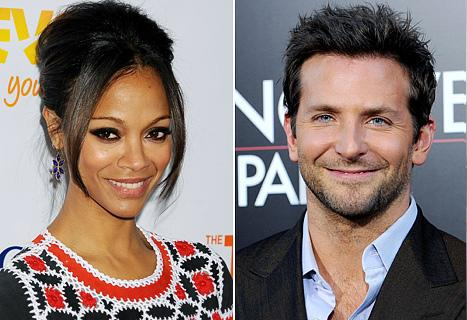 """New Couple Bradley Cooper, Zoe Saldana """"Making Out"""" at New Year's Bash"""