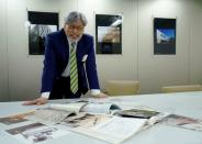 Japanese architect Paul Noritaka Tange gives an interview in Tokyo