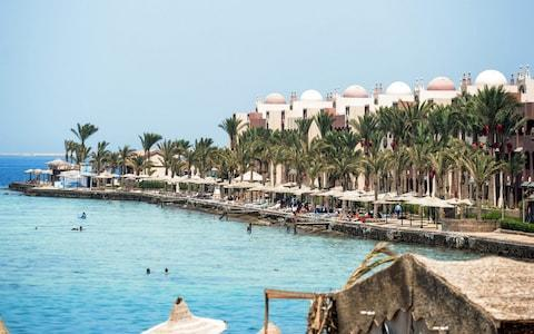 the Egyptian Red Sea resort city of Hurghada - Credit: MOHAMED EL-SHAHED/AFP
