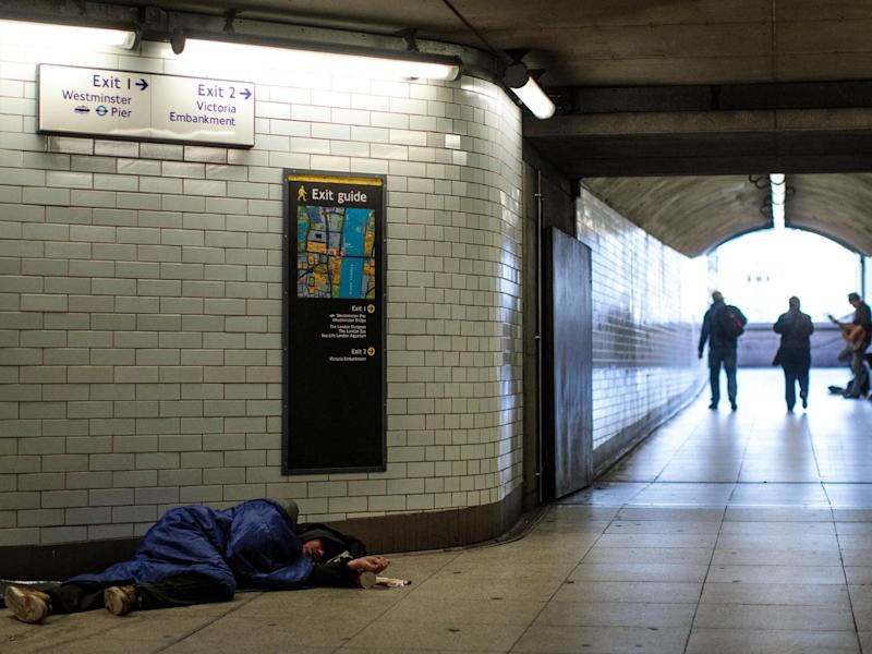 Council spending on services for single homeless people down £5bn in nine years as rough sleeping soars