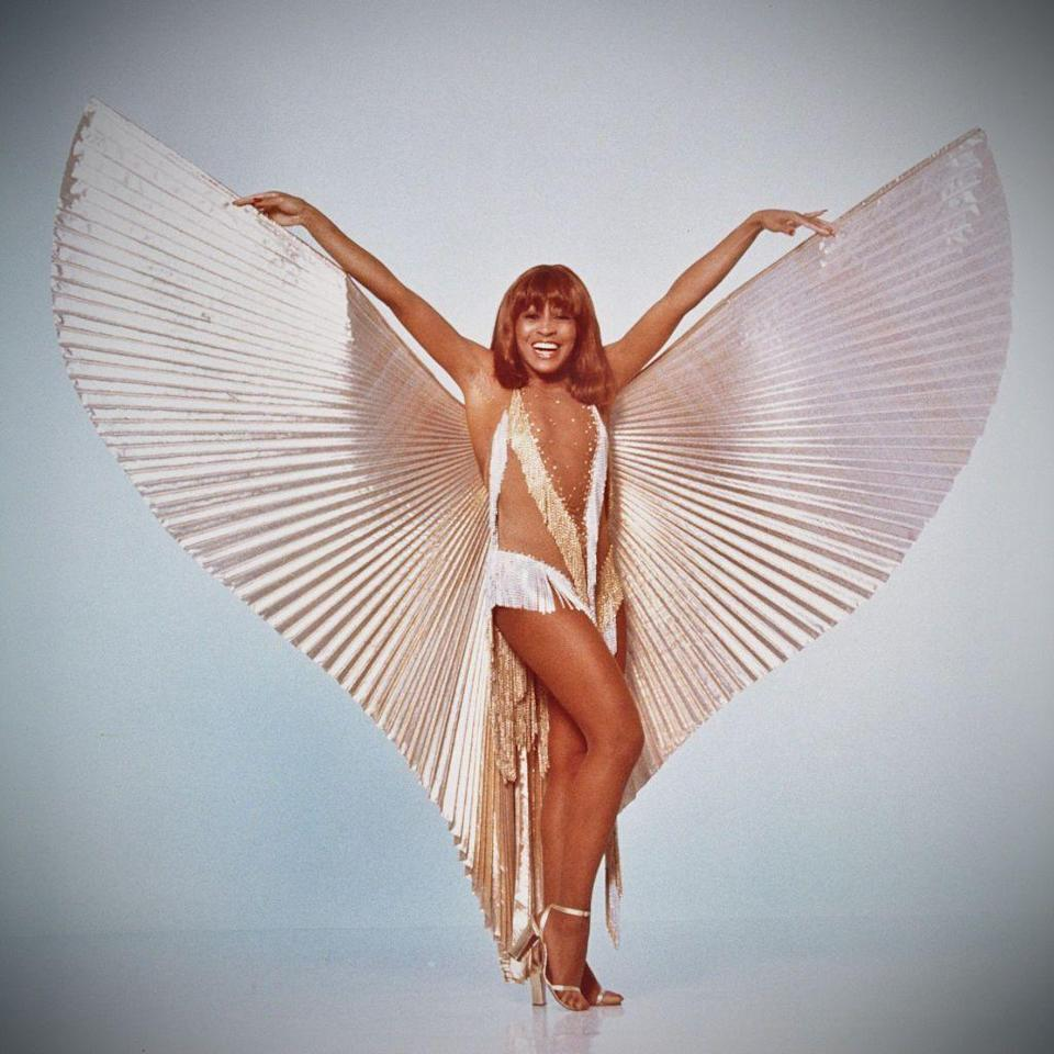 <p>Starting her solo career looking like a beautiful angel in this winged costume. </p>