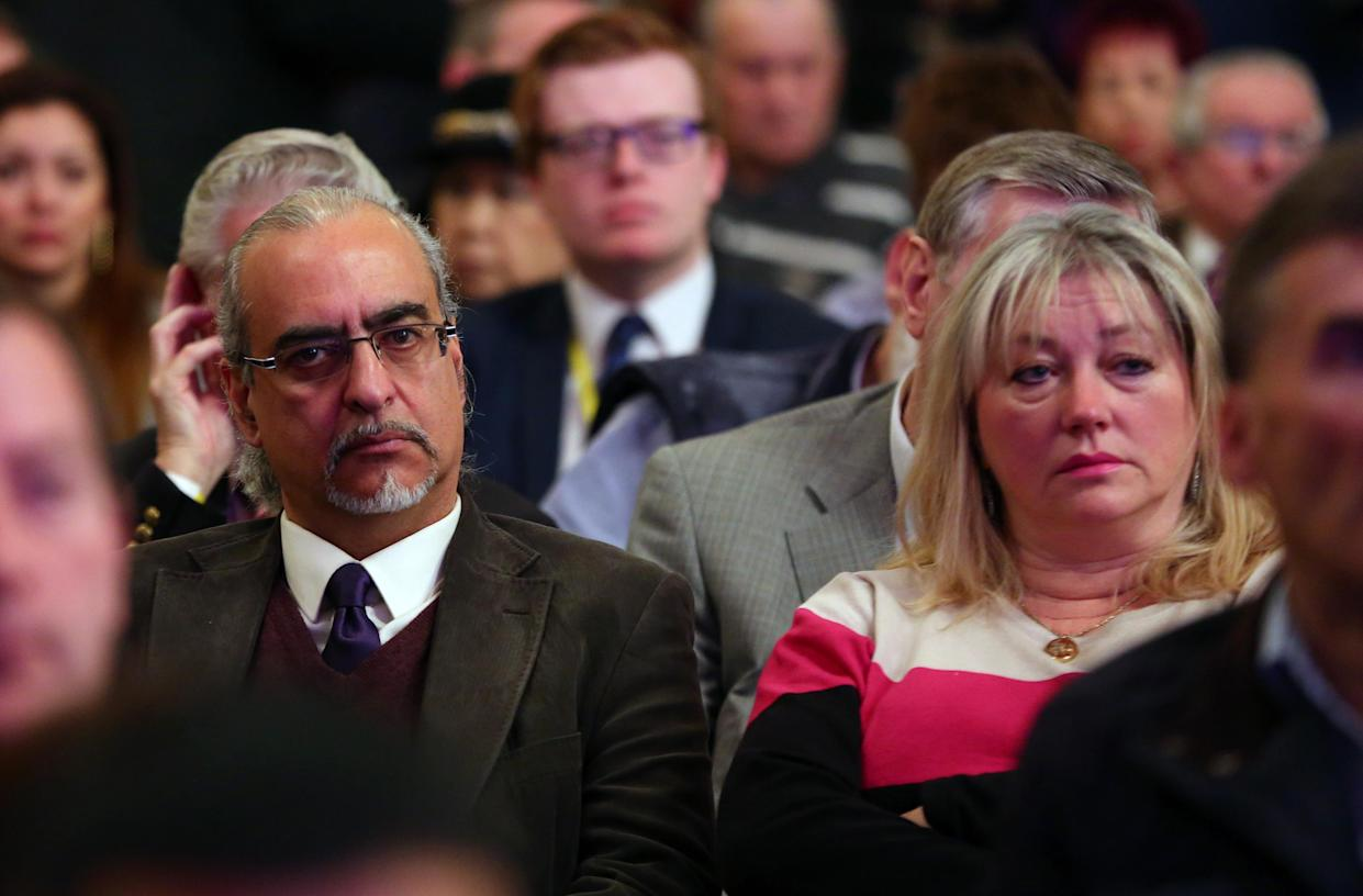 File photo dated 27/2/15 of former Channel 4 Gogglebox stars Andrew and Carolyne Michael attend the Ukip spring conference at the Winter Gardens Theatre in Margate, Kent. It has been announced that Gogglebox star Andy Michael passed away last weekend at the age of 61 following a short illness. Retired hotelier Andy was one of the show's original cast members, appearing in the very first episode in 2013. Issue date: Friday August 27, 2021.
