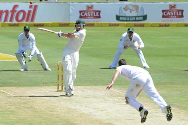 PRETORIA, SOUTH AFRICA - FEBRUARY 12: Shaun Marsh of Austrailia during day 1 of the 1st Test match between South Africa and Australia at SuperSport Park on February 12, 2014 in Pretoria, South Africa. (Photo by Lee Warren/Gallo Images)