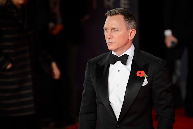 Daniel Craig attending the World Premiere of Spectre, held at the Royal Albert Hall in London. (Credit: Matt Crossick/PA Wire)