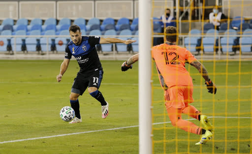 Qazaishvili scores in 76th, Earthquakes tie Timbers 1-1