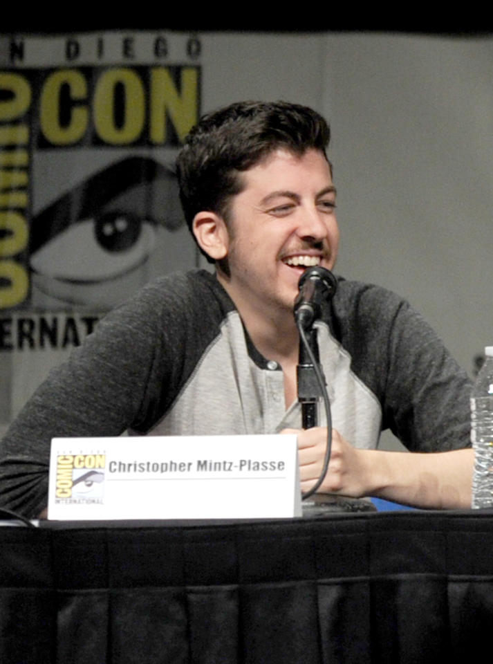 """SAN DIEGO, CA - JULY 13:  Actor Christopher Mintz-Plasse speaks at the """"Paranorman: Behind The Scenes"""" panel during Comic-Con International 2012 at San Diego Convention Center on July 13, 2012 in San Diego, California.  (Photo by Kevin Winter/Getty Images)"""