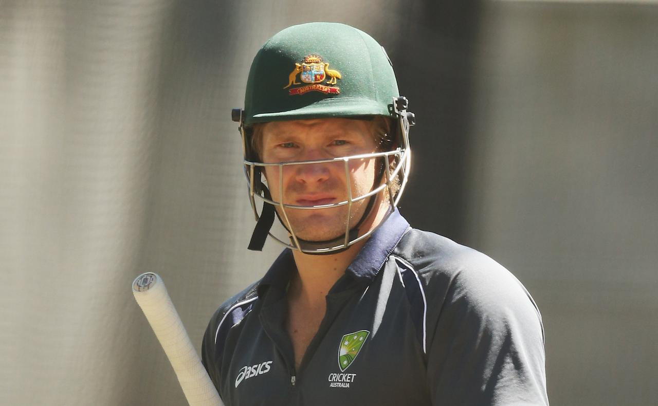 MELBOURNE, AUSTRALIA - DECEMBER 23:  Shane Watson of Australia looks on during an Australian nets session at Melbourne Cricket Ground on December 23, 2012 in Melbourne, Australia.  (Photo by Scott Barbour/Getty Images)