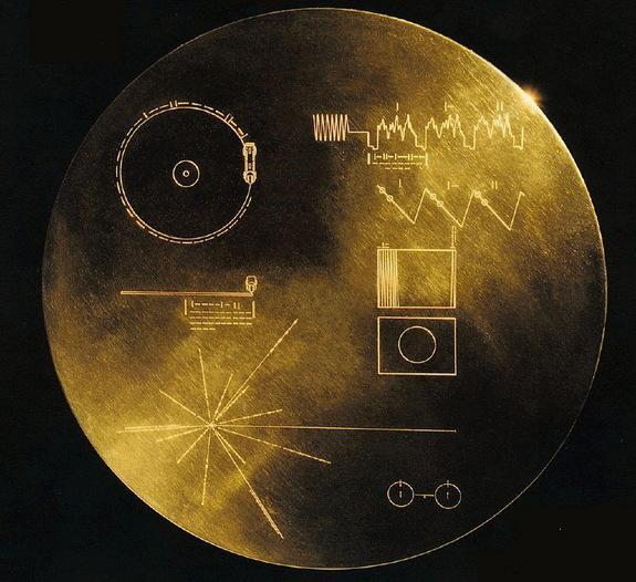The Golden Record carried a message from Earth on board NASA's Voyager 1 and Voyager 2 missions.
