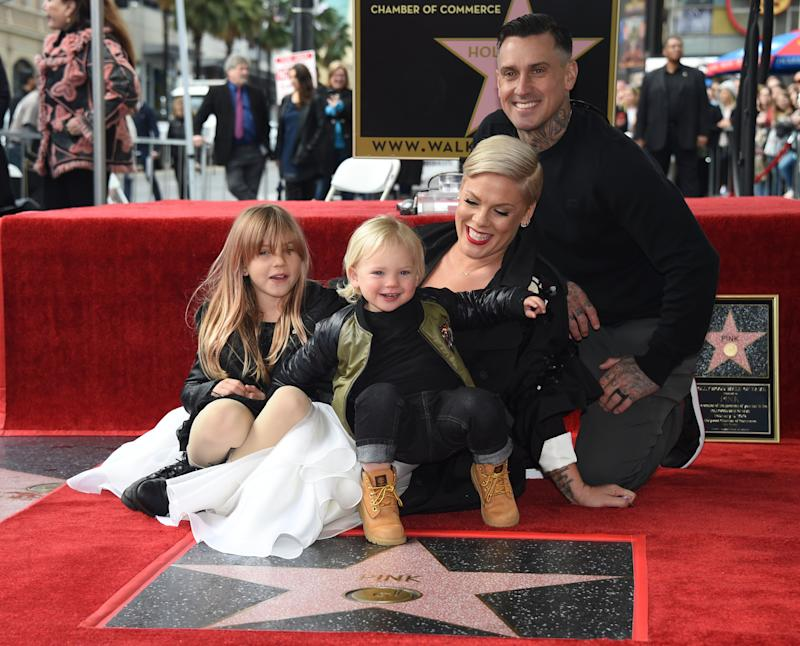 Pink dishes on her SURPRISE career change