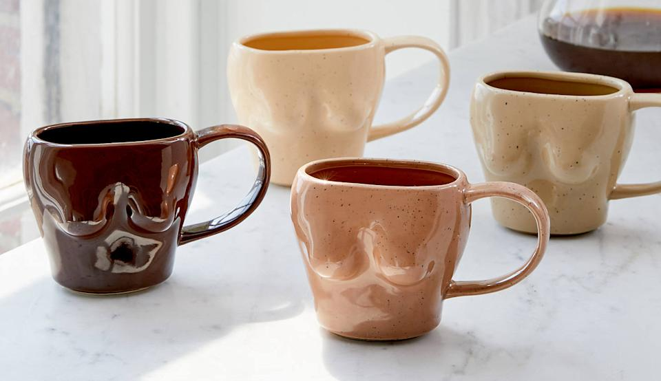 These adorable mugs are sure to be a conversation starter. (Photo: Urban Outfitters)