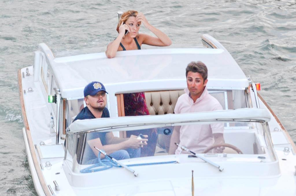 "They haven't admitted to being a couple, but Leonardo DiCaprio and Blake Lively were spotted riding in the same water taxi in Venice, Italy, on Thursday. Do you think love is in the air for the two actors? Ciao Pix/<a href=""http://www.infdaily.com"" target=""new"">INFDaily.com</a> - June 2, 2011"