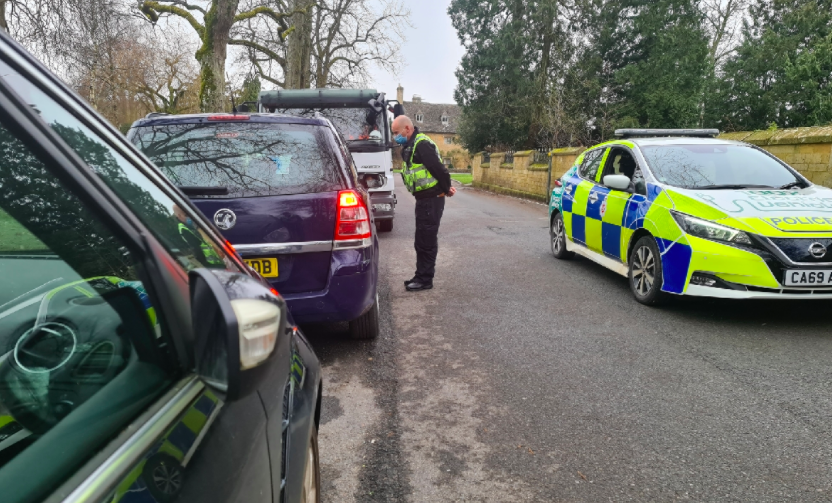 Police tweeted that the Londoners who travelled to the Cotswolds beauty spot were fined £200 each. (Cotswolds Police)