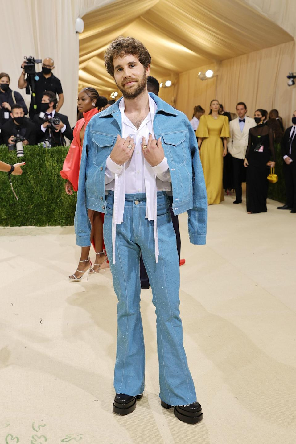 """<h1 class=""""title"""">Ben Platt, The 2021 Met Gala Celebrating In America: A Lexicon Of Fashion - Arrivals</h1><cite class=""""credit"""">Getty</cite>"""