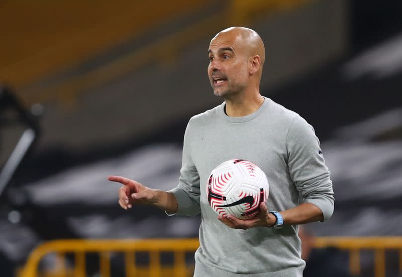 Manchester City's Guardiola says his players are not machines as injuries mount