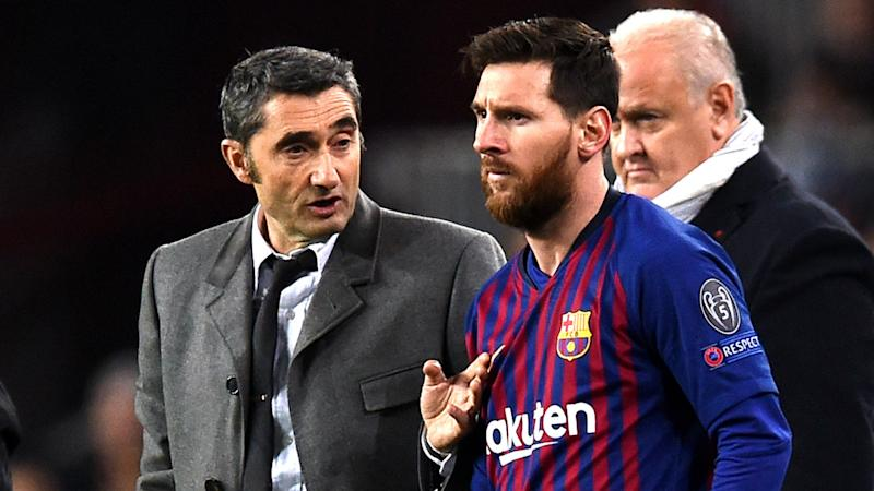 'Thanks for everything' - Messi writes farewell message to sacked Barcelona coach Valverde
