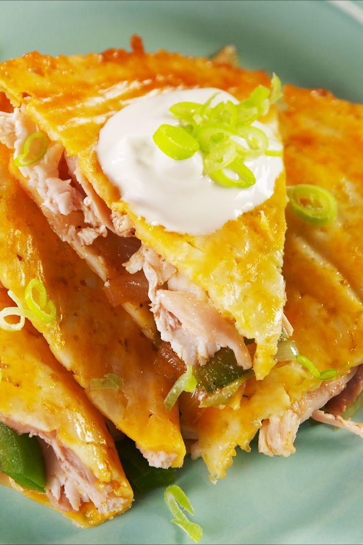"<p>What makes this recipe so genius? The cheese ""tortilla""! </p><p>Get the recipe from <a href=""https://www.delish.com/cooking/recipe-ideas/a26103671/keto-quesadillas-recipe/"" rel=""nofollow noopener"" target=""_blank"" data-ylk=""slk:Delish"" class=""link rapid-noclick-resp"">Delish</a>.</p>"