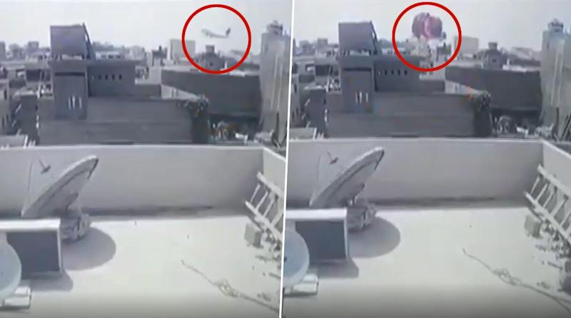 PIA Plane Crash Video: CCTV Footage Shows Flight PK 8303 Crashing Into Karachi Building