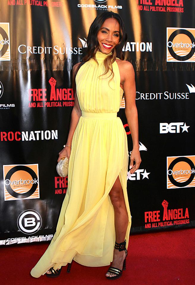 April 3, 2013: Jada Pinkett Smith at the premiere of 'Free Angela and all political prisoners'
