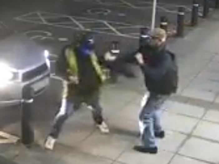 A pensioner has succesfully fought off a mugger at a cash machine: South Wales Police