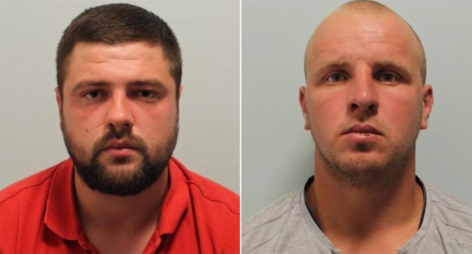 Dmitri Ceban, 28, (left) was jailed for 16 years and Octavian Lupu, 31, (right) who plied the woman with drinks in a nightclub, was handed a 20-year prison sentence. (Met Police)