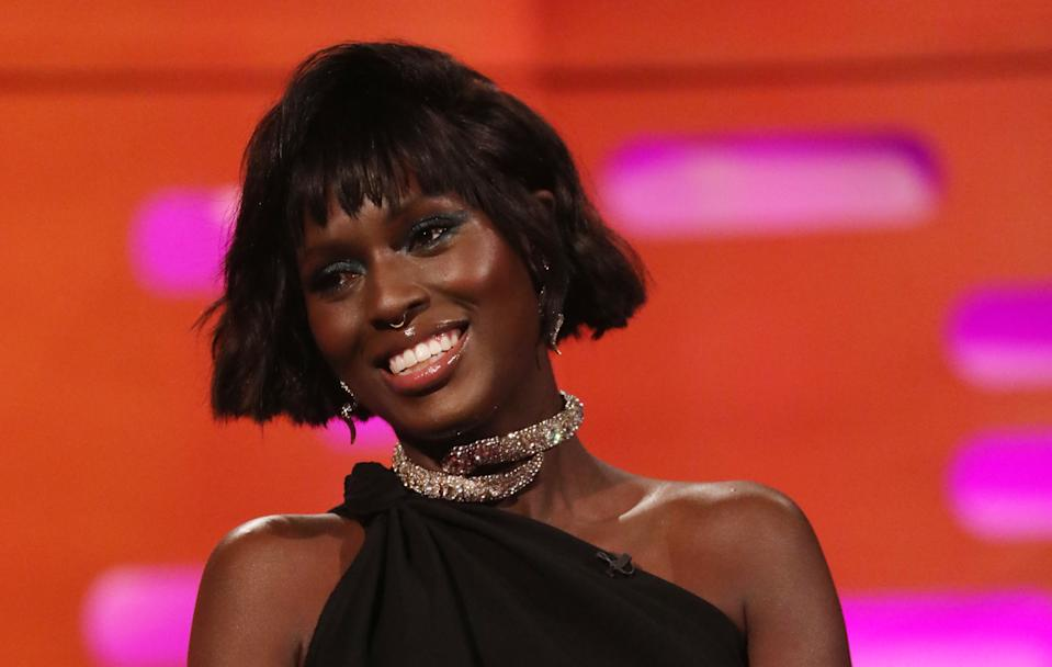 Jodie Turner-Smith during the filming for the Graham Norton Show at BBC Studioworks 6 Television Centre, Wood Lane, London, to be aired on BBC One on Friday evening. (Photo by Isabel Infantes/PA Images via Getty Images)